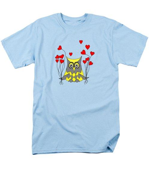 Owl Always Love You Men's T-Shirt  (Regular Fit) by Kathleen Sartoris