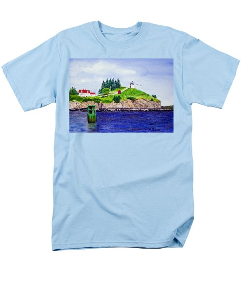 Owls Head Lighthouse Men's T-Shirt  (Regular Fit) by Mike Robles