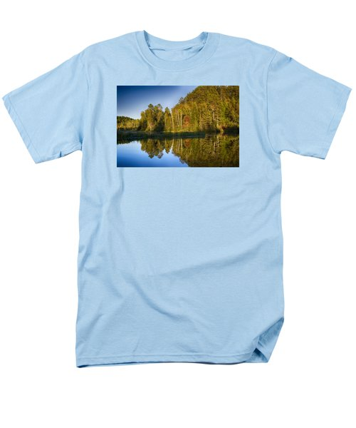 Paint River Men's T-Shirt  (Regular Fit) by Dan Hefle