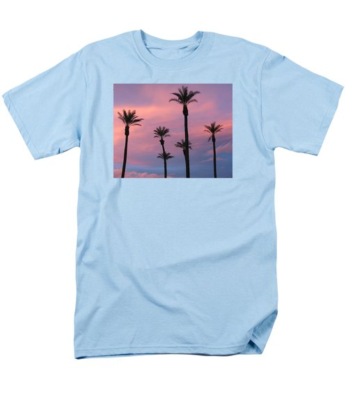 Men's T-Shirt  (Regular Fit) featuring the photograph Palms At Sunset by Phyllis Kaltenbach
