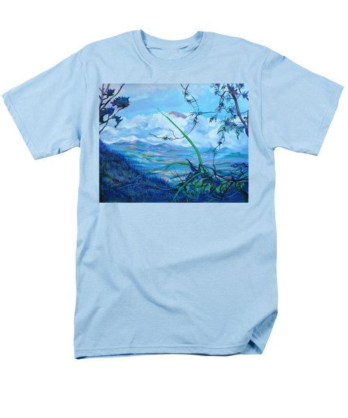 Men's T-Shirt  (Regular Fit) featuring the painting Panama. Anton Valley by Anna  Duyunova
