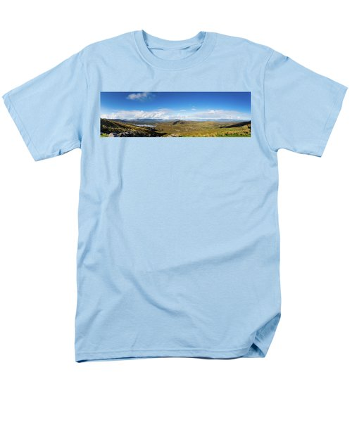 Men's T-Shirt  (Regular Fit) featuring the photograph Panorama Of Ballycullane And Lough Acoose In Ireland by Semmick Photo