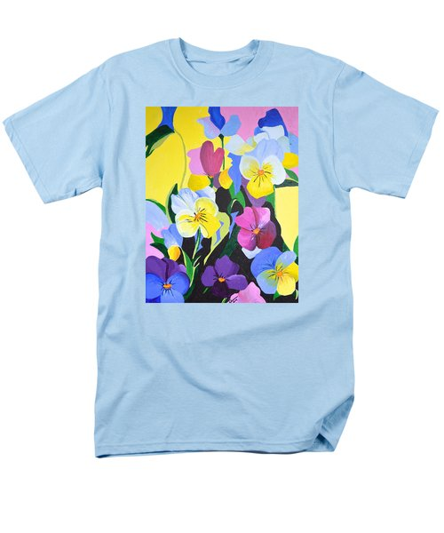 Pansies Men's T-Shirt  (Regular Fit) by Donna Blossom