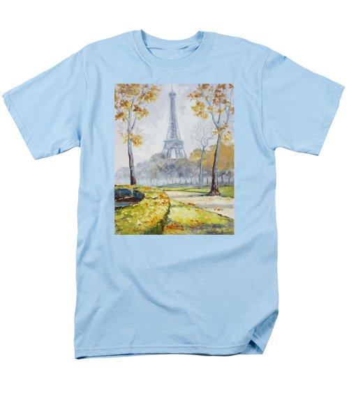 Paris Eiffel Tower From Trocadero Park Men's T-Shirt  (Regular Fit)