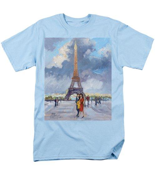 Paris Eiffel Tower Men's T-Shirt  (Regular Fit)