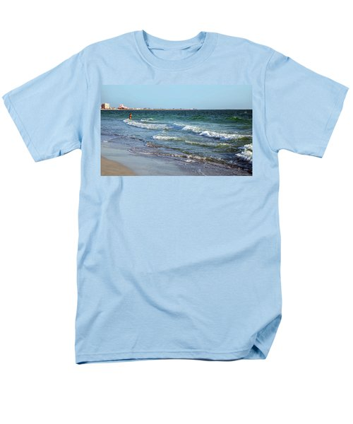 Men's T-Shirt  (Regular Fit) featuring the photograph Passagrill Beach by Ginny Schmidt