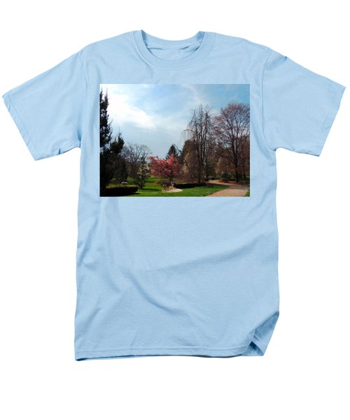 Men's T-Shirt  (Regular Fit) featuring the photograph Pathway To Spring by Teresa Schomig
