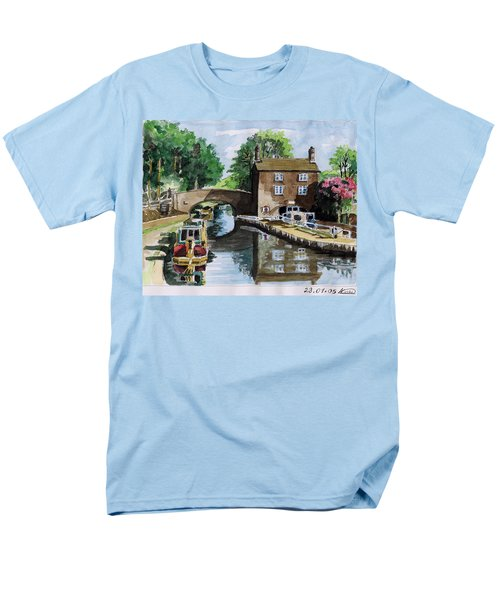 Peacfull House On The Lake Men's T-Shirt  (Regular Fit) by Alban Dizdari