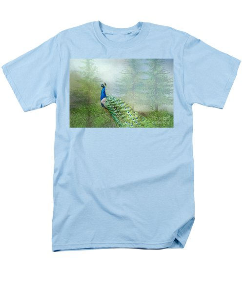 Peacock In The Forest Men's T-Shirt  (Regular Fit) by Bonnie Barry