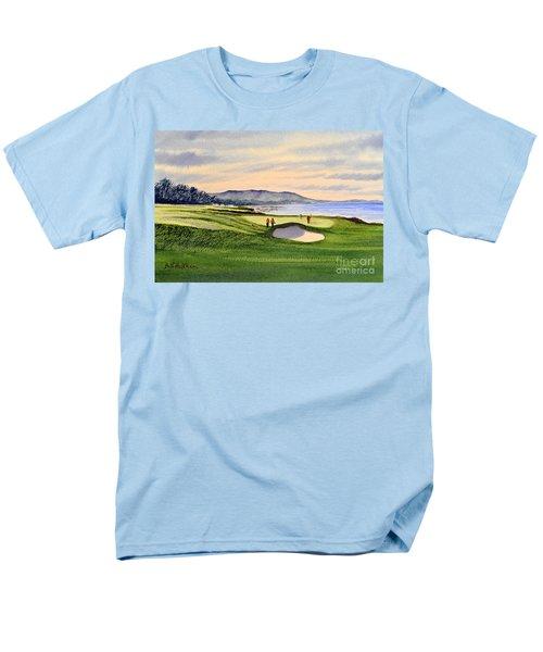Pebble Beach Golf Course Men's T-Shirt  (Regular Fit) by Bill Holkham