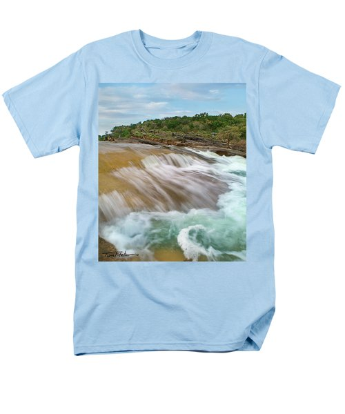 Pedernales Falls Men's T-Shirt  (Regular Fit) by Tim Fitzharris