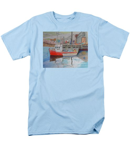 Peggy's Cove  Fishermen Men's T-Shirt  (Regular Fit) by Rae  Smith