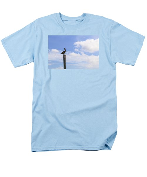 Pelican In The Clouds Men's T-Shirt  (Regular Fit) by Christopher L Thomley