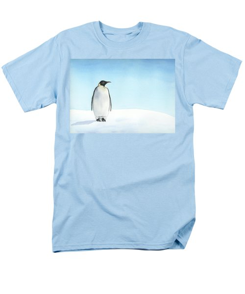 Men's T-Shirt  (Regular Fit) featuring the painting Penguin Watercolor by Taylan Apukovska
