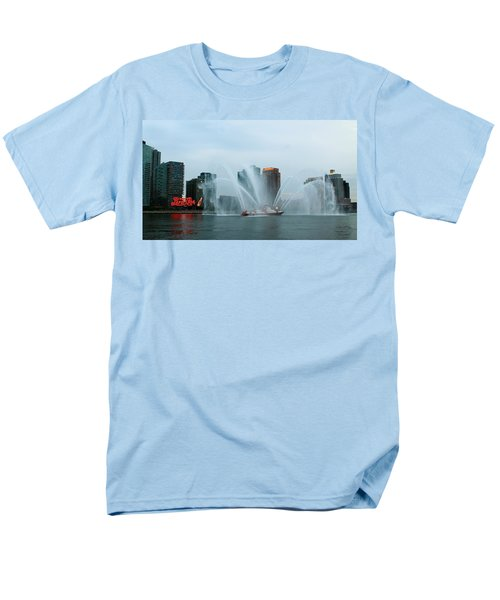 Pepsi Sign And Fdny  Men's T-Shirt  (Regular Fit) by Catie Canetti