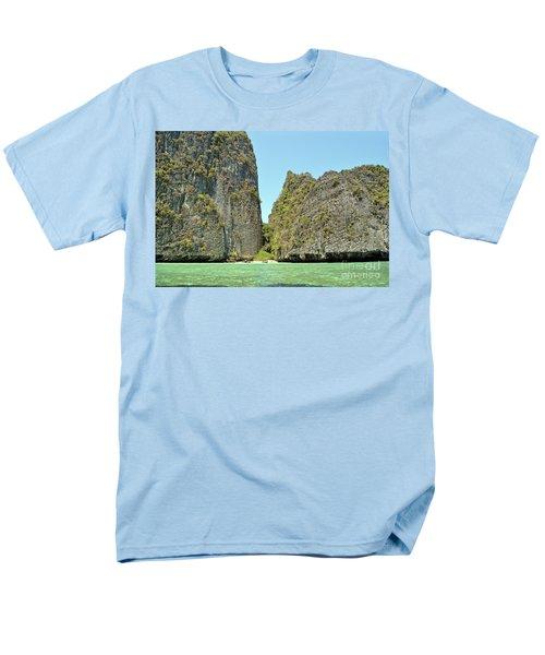 Men's T-Shirt  (Regular Fit) featuring the digital art Phi Phi Islands 2 by Eva Kaufman