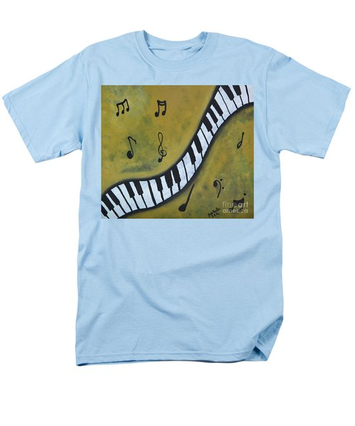 Men's T-Shirt  (Regular Fit) featuring the painting Piano Music Abstract Art By Saribelle by Saribelle Rodriguez
