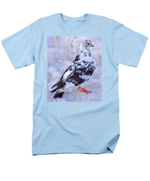 Men's T-Shirt  (Regular Fit) featuring the photograph Pigeon On Ice  1 by John Selmer Sr