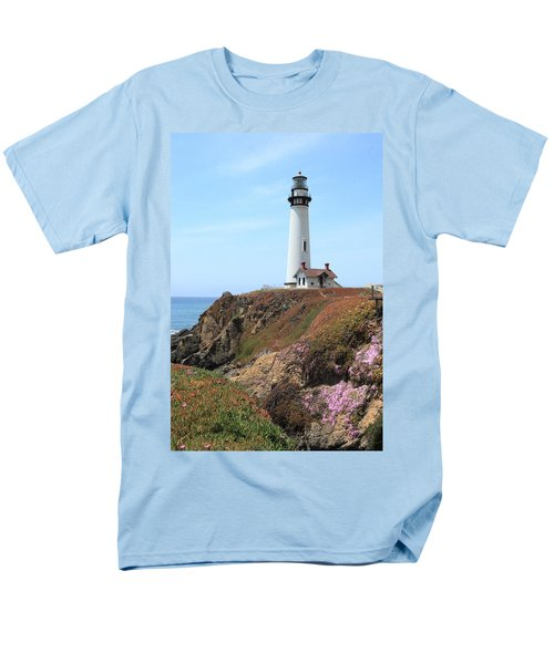 Pigeon Point Lighthouse 2 Men's T-Shirt  (Regular Fit) by Lou Ford