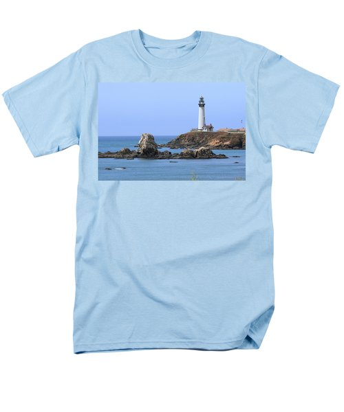 Pigeon Point Lighthouse Men's T-Shirt  (Regular Fit) by Lou Ford