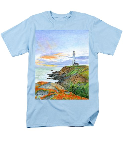 Pigeon Point Sunset Men's T-Shirt  (Regular Fit) by Mike Robles