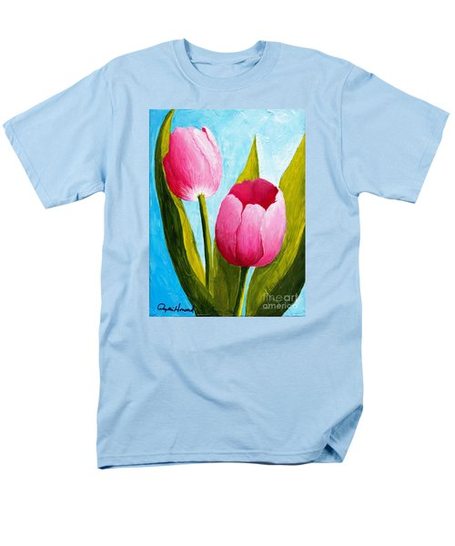 Pink Bubblegum Tulip II Men's T-Shirt  (Regular Fit) by Phyllis Howard