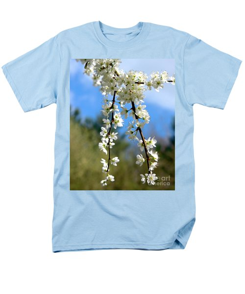 Men's T-Shirt  (Regular Fit) featuring the photograph Plum Tree Blossoms by Stephen Melia