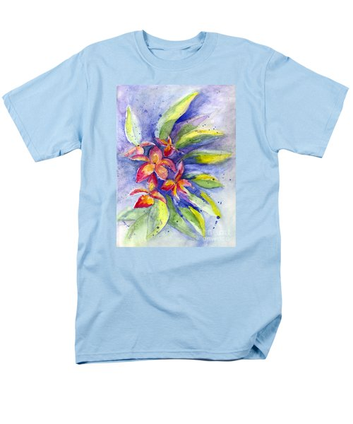 Men's T-Shirt  (Regular Fit) featuring the painting Plumeria by Carol Wisniewski