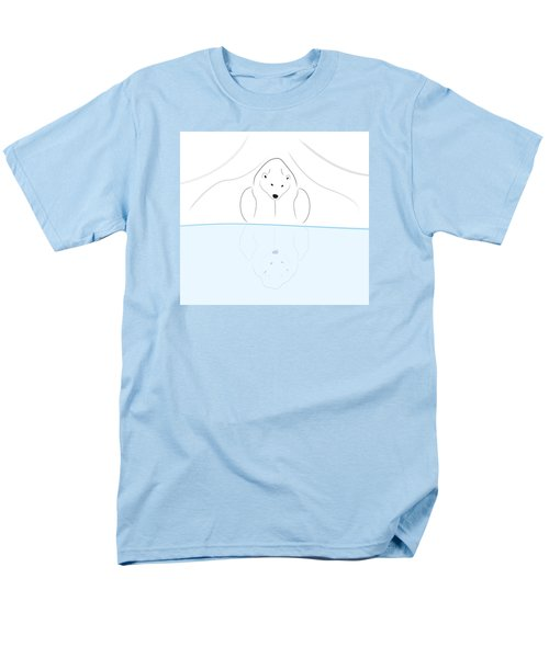 Polar Bear Reflection Men's T-Shirt  (Regular Fit) by Greg Slocum