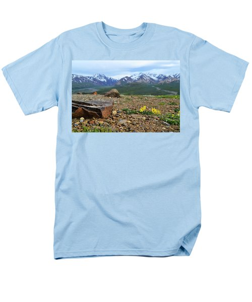 Men's T-Shirt  (Regular Fit) featuring the photograph Polychrome Pass, Denali by Zawhaus Photography