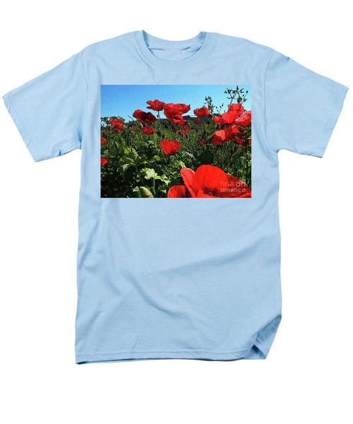 Poppies. Men's T-Shirt  (Regular Fit) by Don Pedro De Gracia