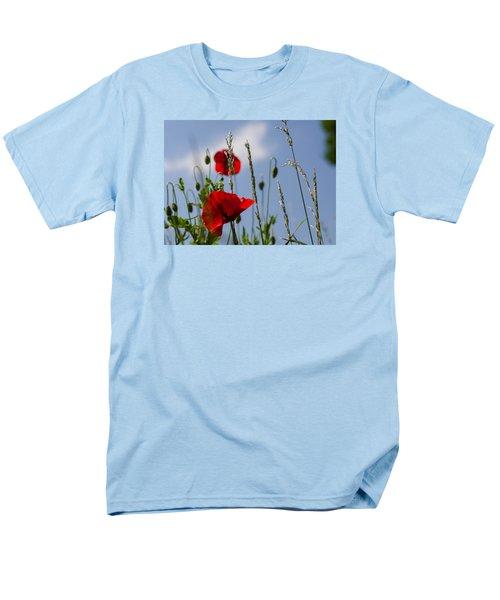 Poppies In The Skies Men's T-Shirt  (Regular Fit) by Rainer Kersten