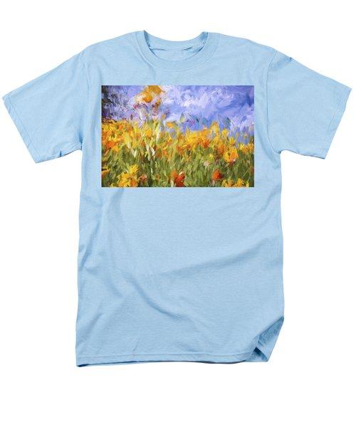 Poppy Field Men's T-Shirt  (Regular Fit) by Bonnie Bruno