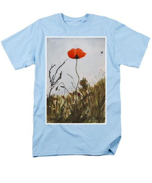 Men's T-Shirt  (Regular Fit) featuring the painting Poppy On The Field by Manuela Constantin