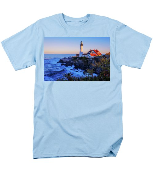 Portland Head Light II Men's T-Shirt  (Regular Fit) by Chad Dutson