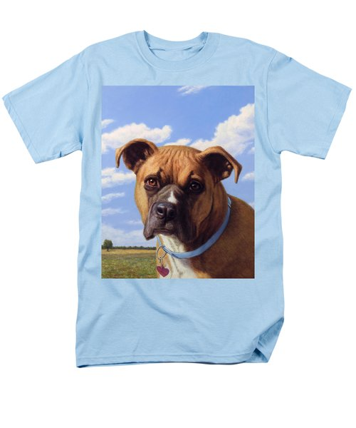 Men's T-Shirt  (Regular Fit) featuring the painting Portrait Of A Sweet Boxer by James W Johnson