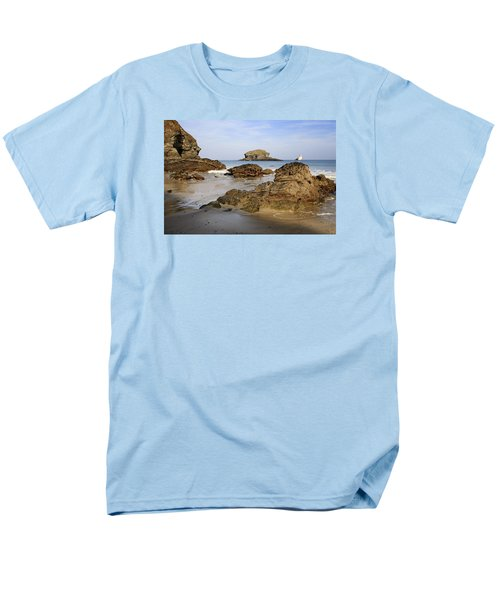 Men's T-Shirt  (Regular Fit) featuring the photograph Portreath by Shirley Mitchell