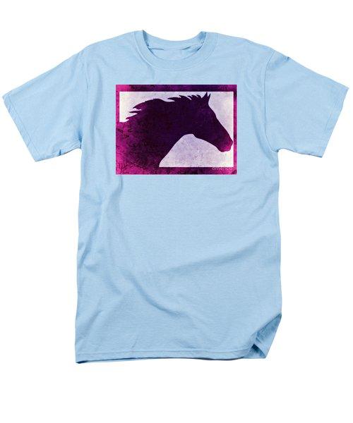 Pretty Purple Horse  Men's T-Shirt  (Regular Fit) by Mindy Bench