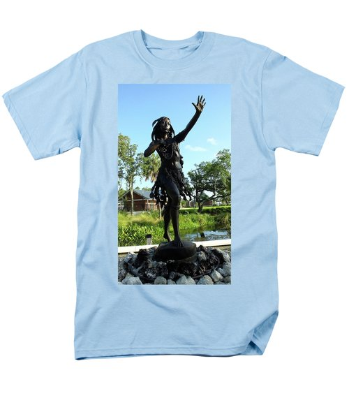 Princess Ulele Statue Men's T-Shirt  (Regular Fit) by Judy Wanamaker