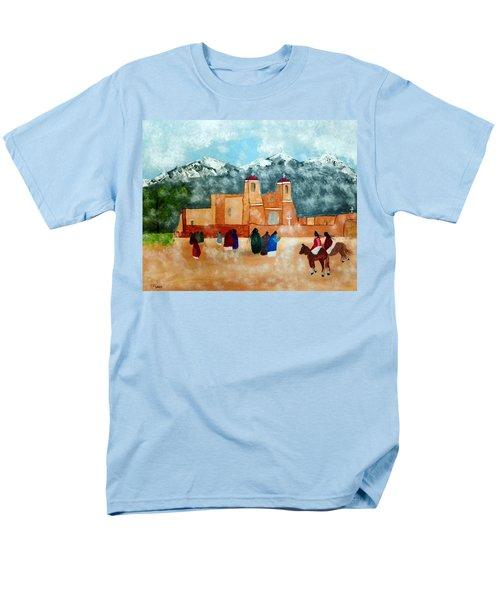 Pueblo Church Men's T-Shirt  (Regular Fit) by Joseph Frank Baraba