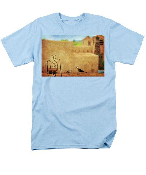 Men's T-Shirt  (Regular Fit) featuring the photograph Pueblo Village Settlers by Diana Angstadt