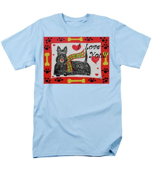 Men's T-Shirt  (Regular Fit) featuring the painting Puppy Love by Diane Pape