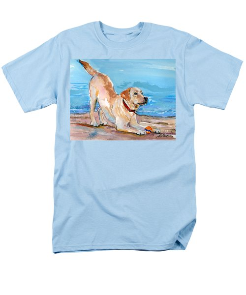 Puppy Pose Men's T-Shirt  (Regular Fit) by Molly Poole