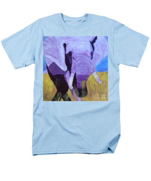 Purple Elephant Men's T-Shirt  (Regular Fit) by Donald J Ryker III