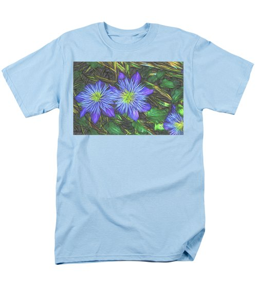 Men's T-Shirt  (Regular Fit) featuring the digital art Purple Passion by Terry Cork