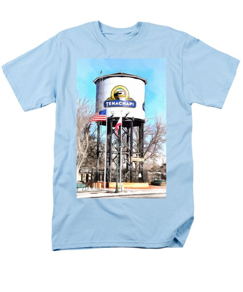 Men's T-Shirt  (Regular Fit) featuring the photograph Railroad Park Tehachapi California by Floyd Snyder