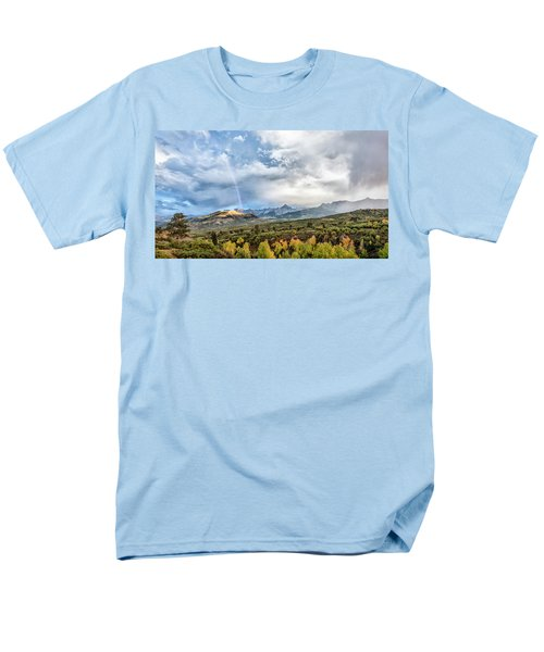 Men's T-Shirt  (Regular Fit) featuring the photograph Rainbow In The San Juan Mountains by Jon Glaser
