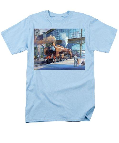 Rebuilt Chapelon Pacific At Calais. Men's T-Shirt  (Regular Fit) by Mike  Jeffries