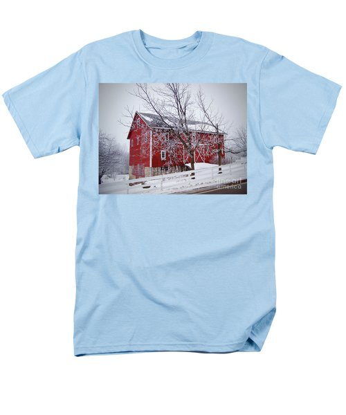 Red Barn Circa 1876 Men's T-Shirt  (Regular Fit) by Sue Stefanowicz
