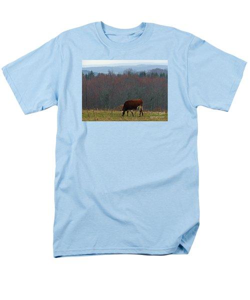 Red Holstein Of The Hills Men's T-Shirt  (Regular Fit) by Christian Mattison